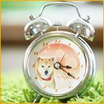 目覚まし時計(直径10cm) オリジナルアラーム付き