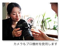 カメラもプロ機材を使用します